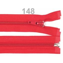 Červený zip 45cm - spirálový 5 mm dělitelný