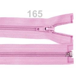 Světle fialový zip 50cm - spirálový 5 mm dělitelný