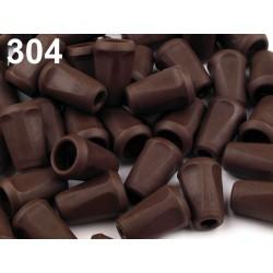 Hnědé koncovky 12x17mm hranaté