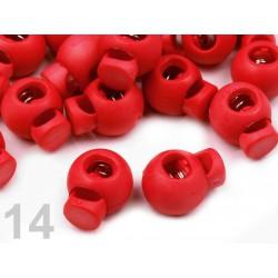 Červené brzdy kulaté 15x20 mm