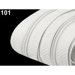 Zip spirálový 3 mm - Bílá
