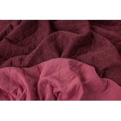 Prošívaná teplákovina bordó/růžová