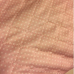 Semiš s plyšem pntíky na růžové