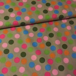 Bavlněný popelín s barevnými puntíky