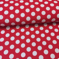 Softshell s puntíky na červené