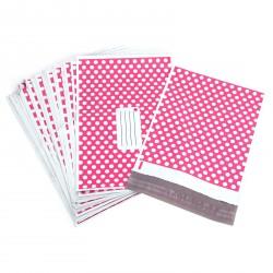 Plastová obálka s puntíky růžová L
