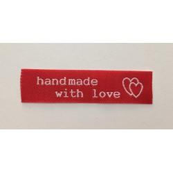 "Tkaná etiketa ""handmade with love"""