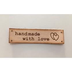 """Kožená etiketa """"handmade with love"""""""