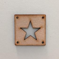 Kožená etiketa Hvězda přírodní