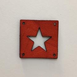 Kožená etiketa Hvězda oranžová