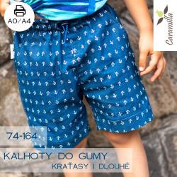 Dětské kalhoty do gumy kraťasy + dlouhé / s kapsami + bez kapes 74-164