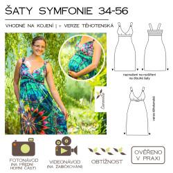 Šaty symfonie (vhodné též na kojení a jako těhotenské) 34 – 56