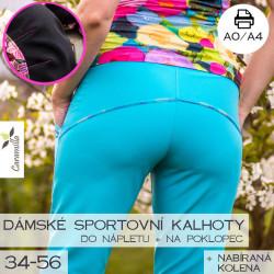 Dámské sportovní kalhoty na 3 typy postav (34-56)