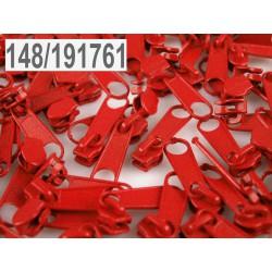 Jezdec ke spirálovým zipům 3mm - High Risk Red