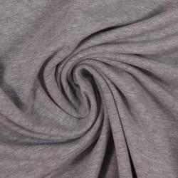 Teplákovina nepočesaná šedý melír