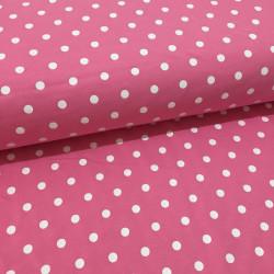 Teplákovina nepočesaná s puntíky růžová