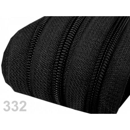 Zip spirálový 5 mm - Black